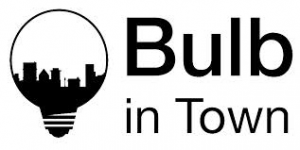 Logo bulb in town